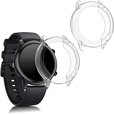 Image of kwmobile 2 Pack de Fundas Compatible con Fitness Tracker Huawei Honor Magic Watch 2 (42mm) - Case en Transparente