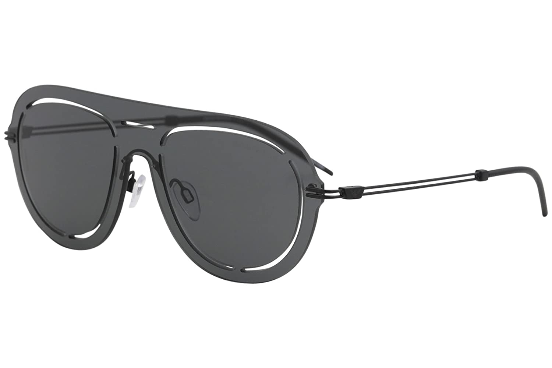 5fba713aedcc Emporio Armani sunglasses (EA-2057 300187) Matt Black - Grey lenses at  Amazon Men's Clothing store:
