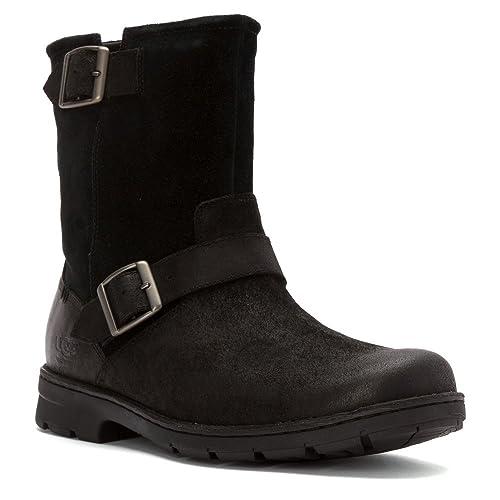 c2b89b8745b UGG Men's Messner Black Leather Boot 7 D (M): Amazon.ca: Shoes ...