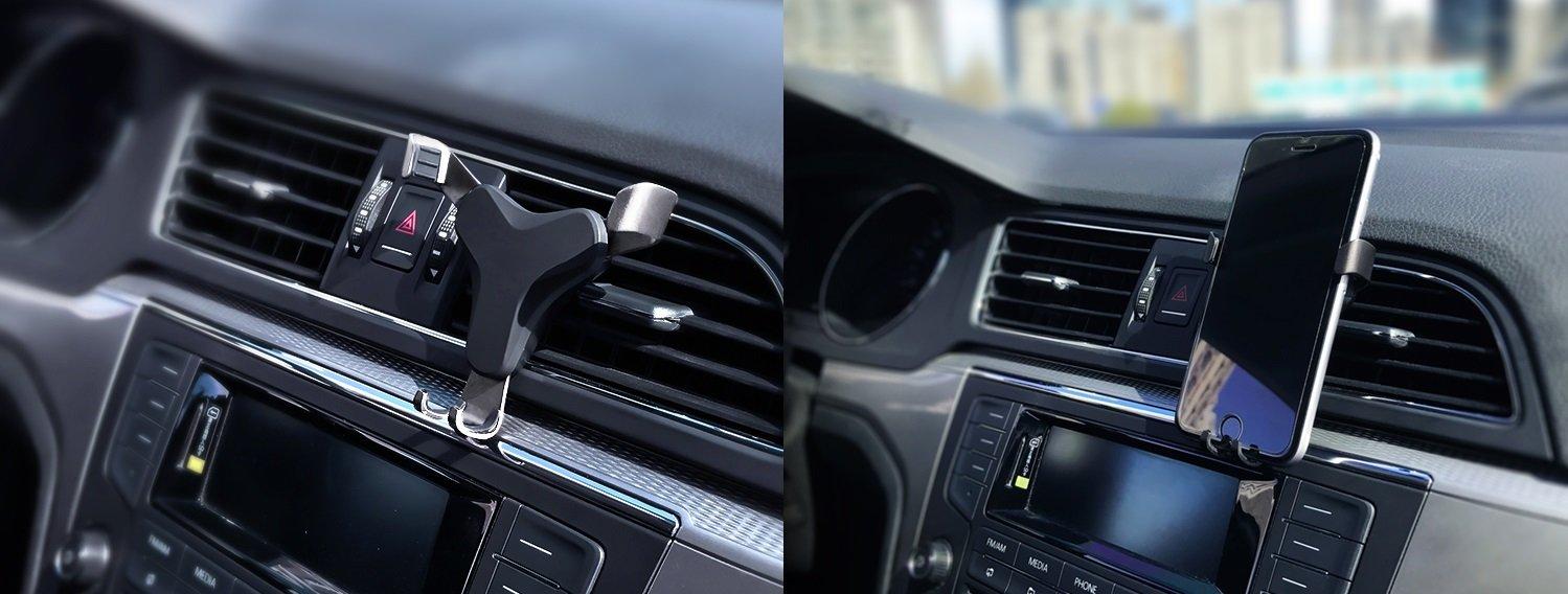 Soporte coche movil gravedad soporte movil coche soporte coche para movil soporte coche telefono soporte movil coche rejilla gravedad soporte movil rejilla por gravedad coche negro-inox
