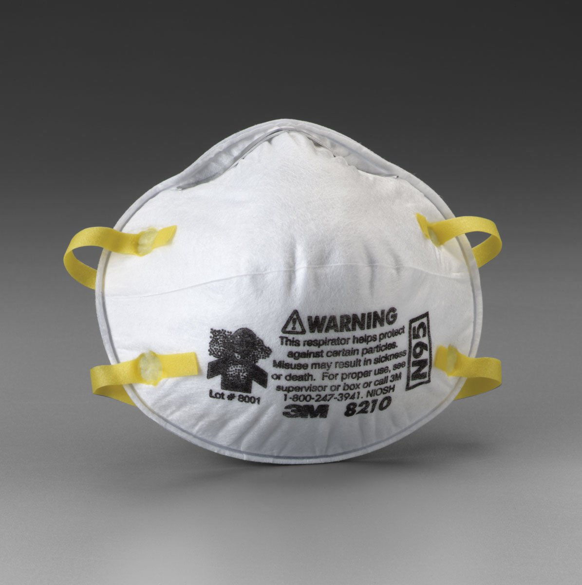 3M 8210+ N95 Approved Particle Respirator Face Mask Dust Filter Lot of 80