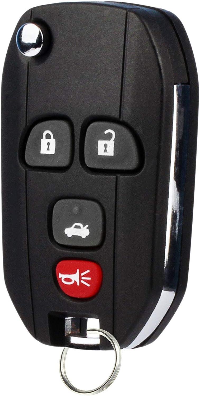 Set of 2 Flip Key Fob fits 2005-2010 Chevy Pontiac Saturn Keyless Entry Remote 15252034