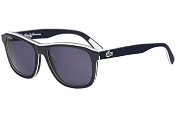 bcef01997999 Amazon.com: LACOSTE Sunglasses L827S 424 Blue Rectangular Mens ...