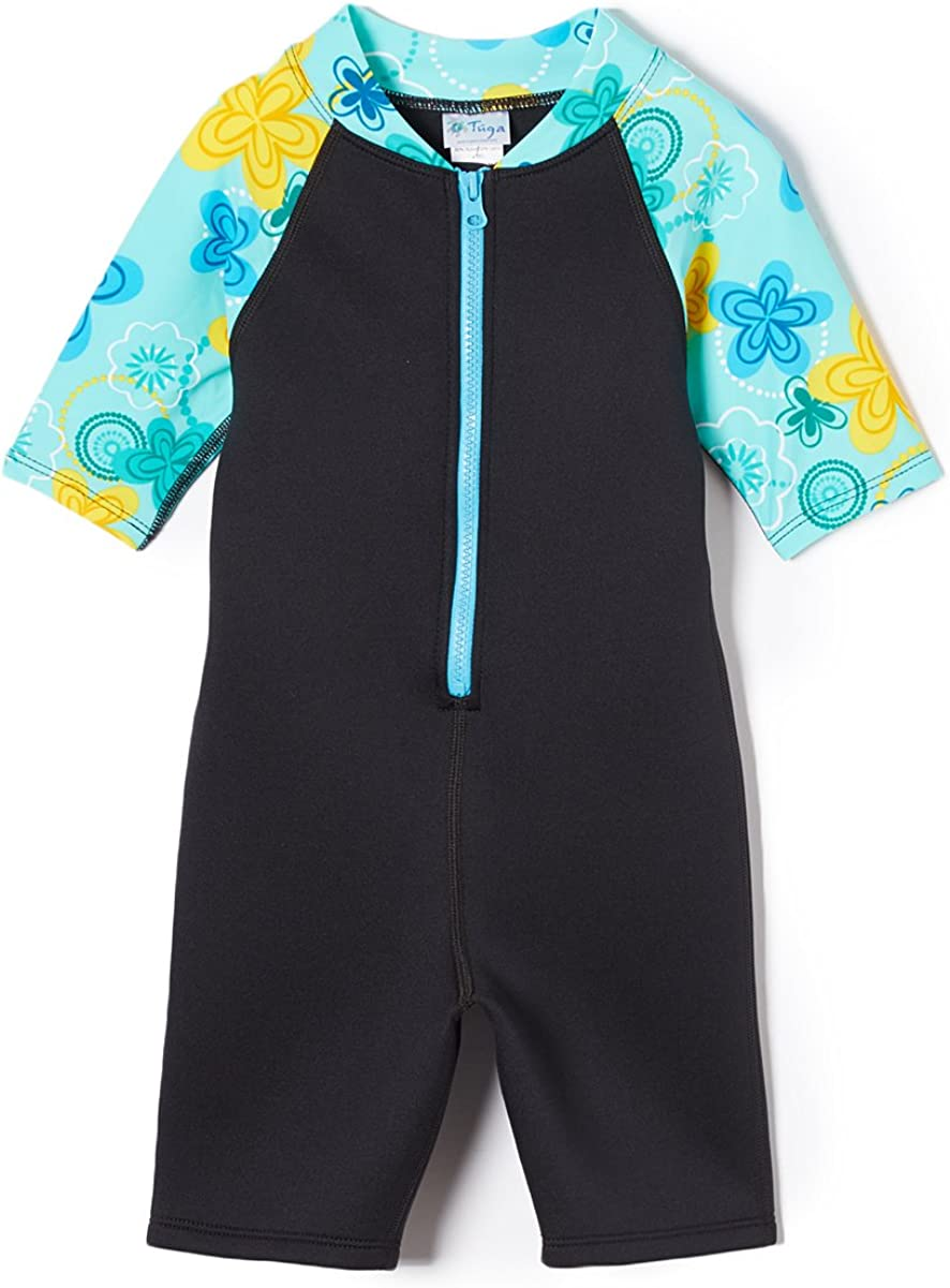 Tuga Girls Thermal Shorty 1.5mm Neoprene/Spandex Wetsuit 1-14 Years, UPF 50+