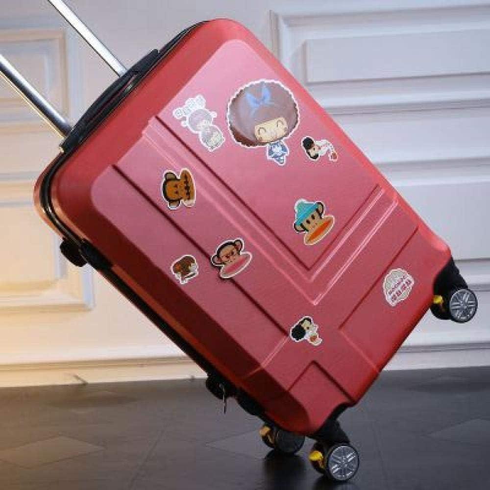 Caja Universal para Barra de Ruedas, 24 Pulgadas, para Maleta, Caja de contraseña, Rueda Universal, Cruz y Tablero de mandos, 24 Pulgadas, Color Rojo Rosa