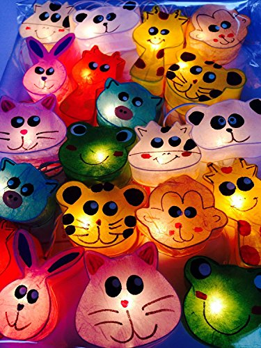 Handmade Lovely Animals Set for Kid Bedroom Lighting String 20 Yarn Bulb Lights Set Hanging Lamp Home Decoration, Patio, Living Room, Yard & Garden Indoor and - Dry For Sunglasses Eyes Indoors