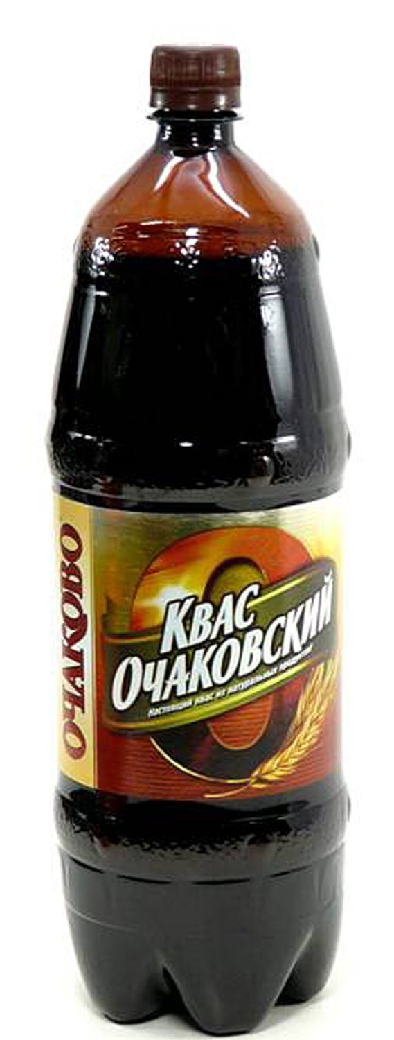 Imported Russian Bread Drink Kvas ''Ochakovskiy'' 2L (2 Pack)