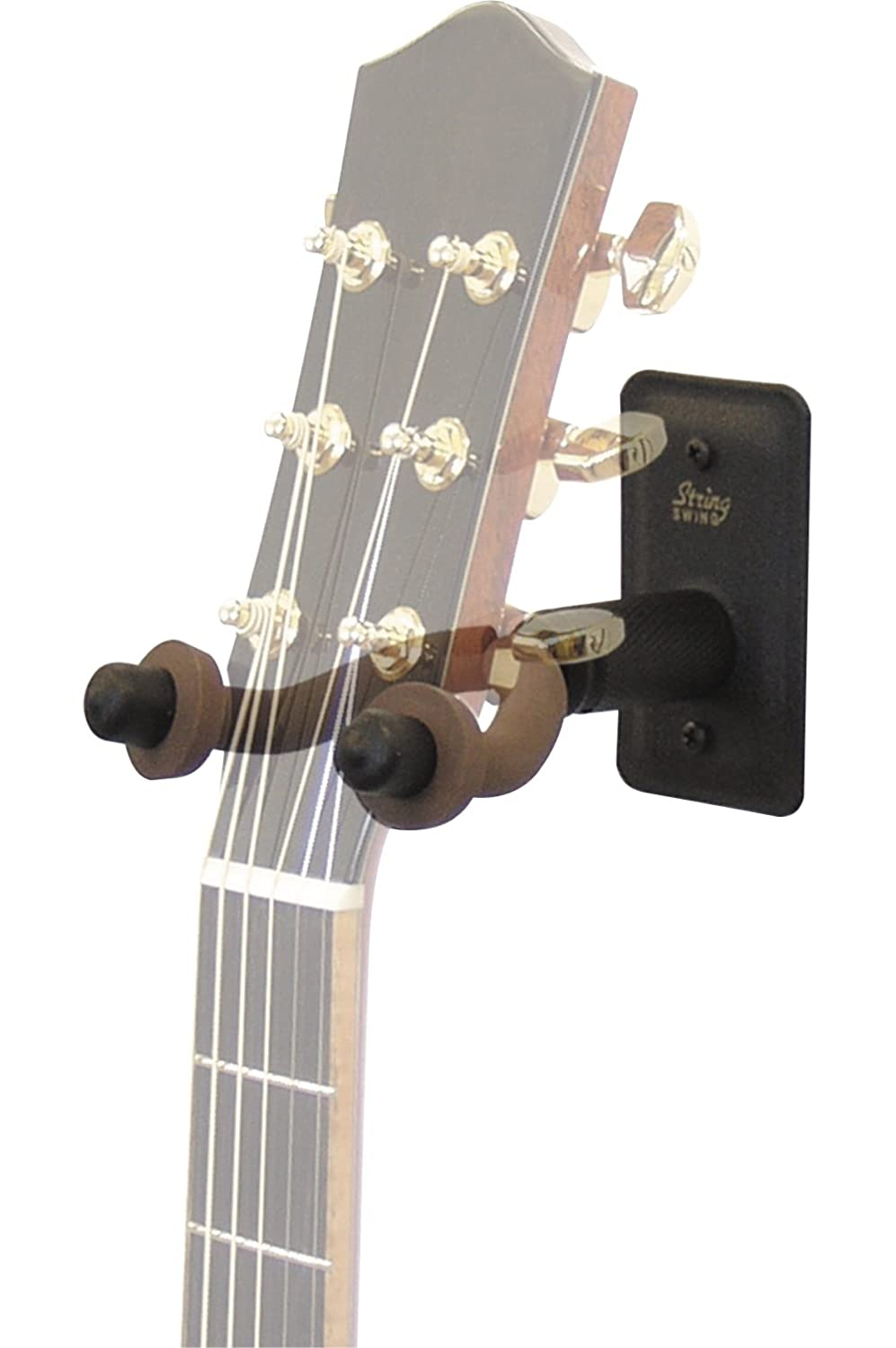 String Swing Metal Home and Studio Wide Guitar Hanger, Black BCC11W