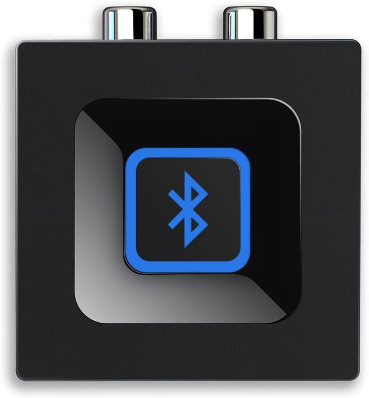 Adaptador de audio de Esinkin para sistema de sonido de transmisión de música, adaptador de audio inalámbrico, funciona con teléfonos móviles y tabletas, receptor Bluetooth para altavoz, color negro