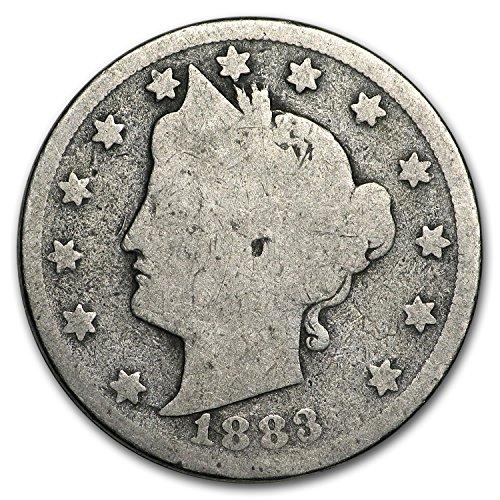 1883 Liberty Head V Nickel w/Cents Good Nickel Good