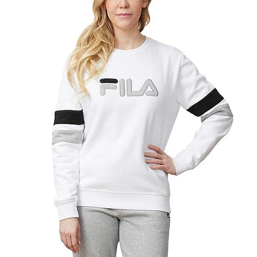 Fila Women's Michele Pullover Crewneck Sweatshirt (Small, White) - NEW