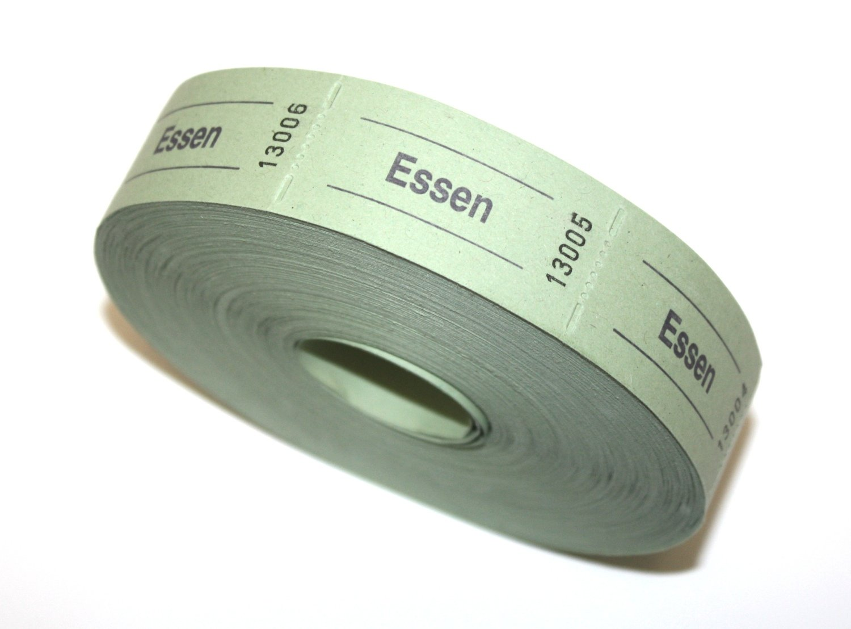 Rotolo di carta verde, con 1000 etichette alimentari con didascalia in lingua tedesca WALED