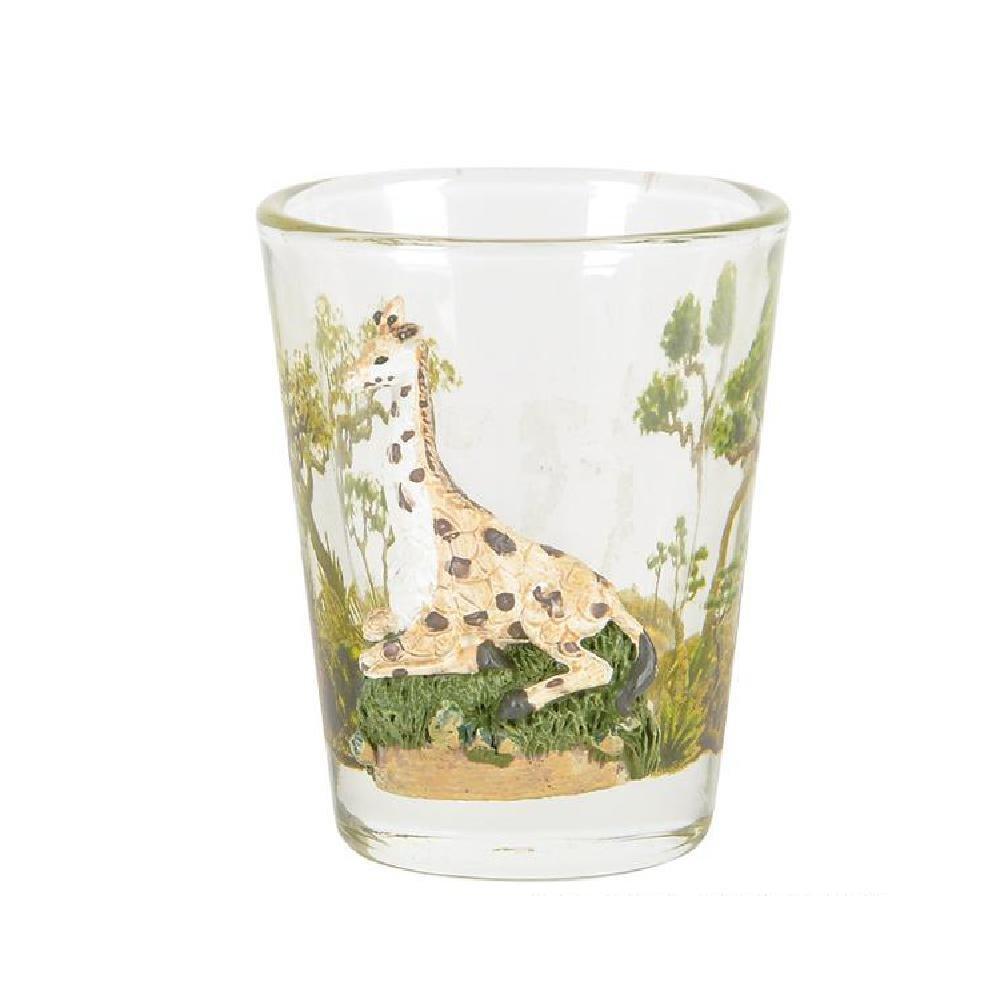 Polyresin Giraffe Shot Glass by Bargain World