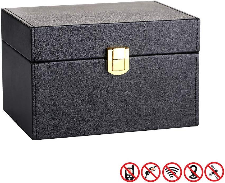 LJ-JSL-102503 Faraday Bag Signal Blocking Bag Shielding Pouch for Car Key WeTest Upgraded Faraday Key Fob Protector Box RFID Signal Blocking Box