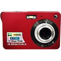 "Eachbid Mini Digital Camera 18MP 2.7"" TFT 8X Zoom 1280 X 720 HD Anti-Shake Digital Video Camera+ Extra Battery + USB Cable+Camera Pouch+ Wrist Strap+User Manual,Red"