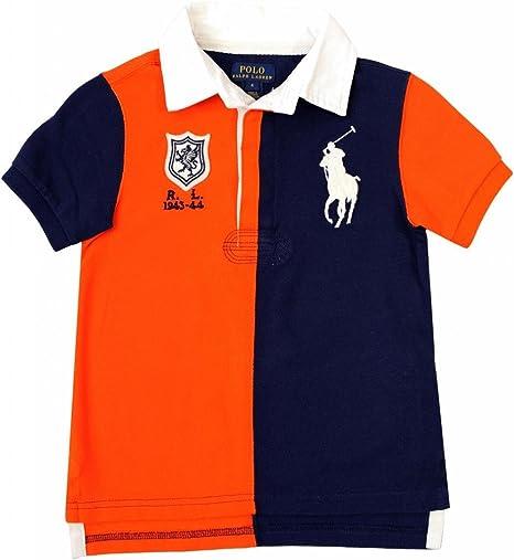 Ralph Lauren Niños Camiseta de rugby Big Pony Polo Jinete con ...