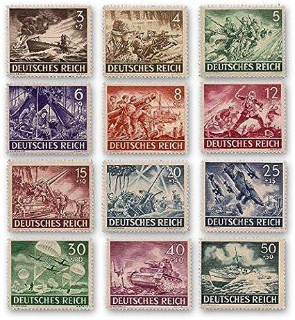 IMPACTO COLECCIONABLES Segunda Guerra Mundial - 12 Sellos de la Wehrmacht 1943: Amazon.es: Juguetes y juegos