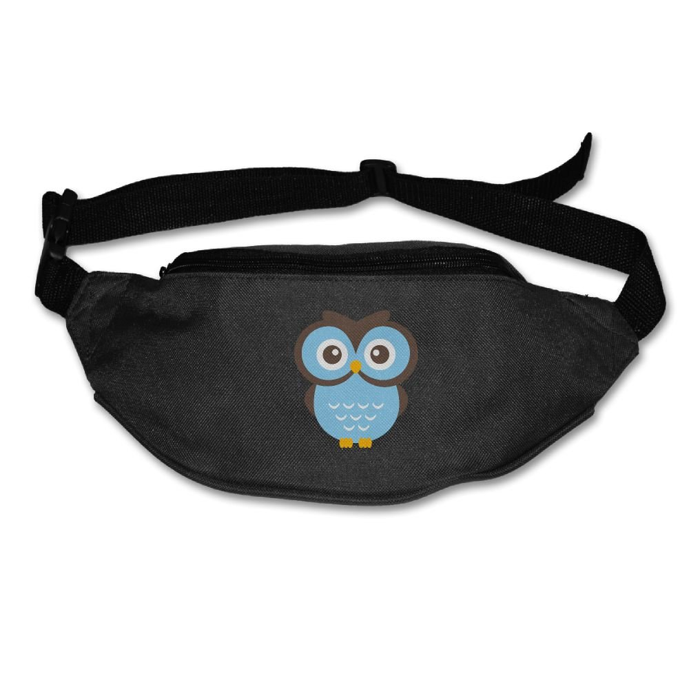 Gkf Waist Fanny Pack Glasses Owl Running Sport Bag For Outdoors Workout Cycling