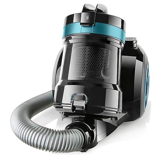 Taurus Exeo Compact Aspirador Trineo Sin Bolsa, Negro con azul