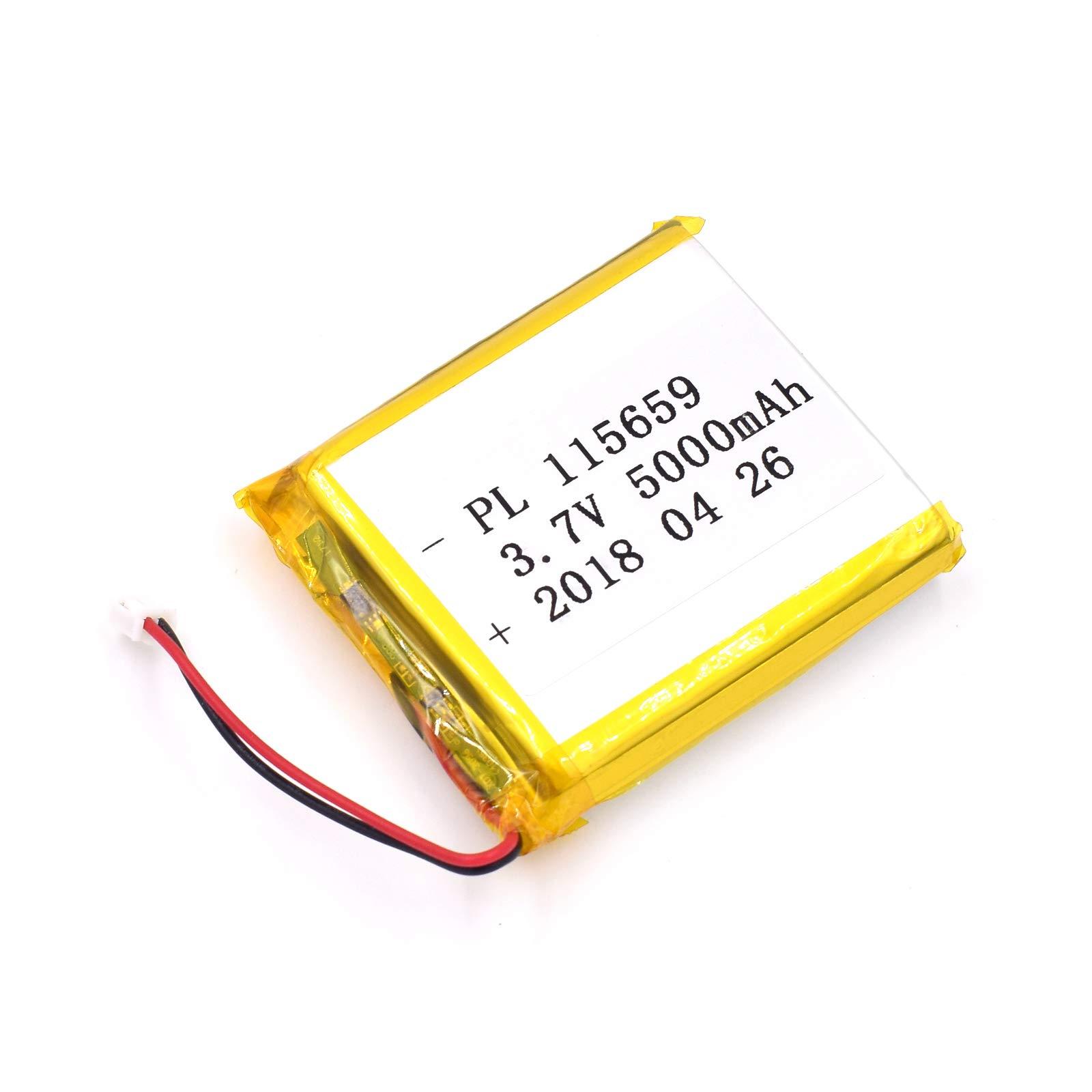 Bateria Lipo 3.7V 5000mAh 115659 Recargable JST Conector