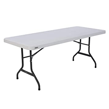 Lifetime Table pliante Blanc Granite 183 x 76 x 73,6 cm 80367 ...