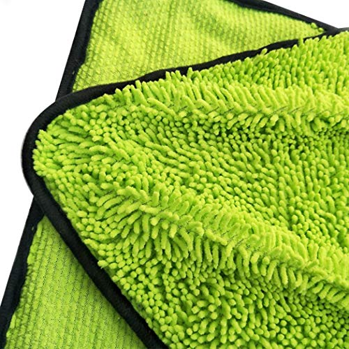 Car Cleaning Vehicle Drying Towel Huhuswwbin, Soft Water Absorption Car Drying Window Body Washing Polishing Cloth Cleaning Towel - Green