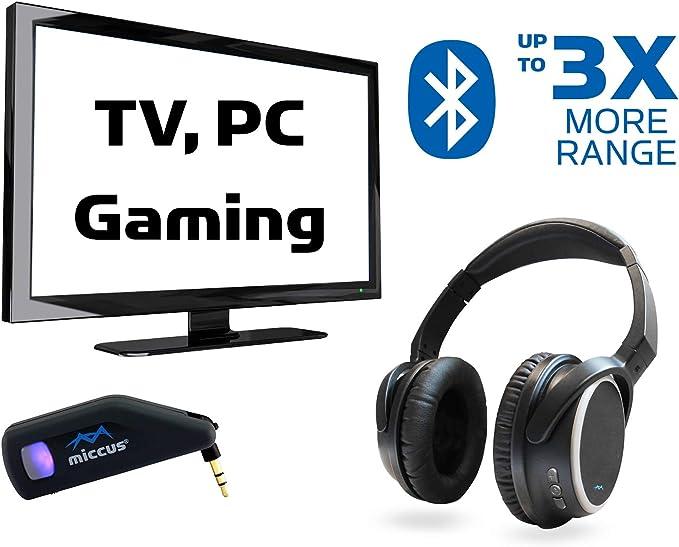 Miccus TV Bundle 2 – Bluetooth Transmisor para televisor + ...