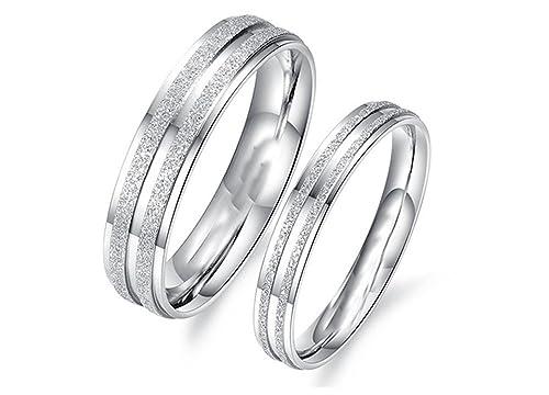 f6e651e248a6 4 mm de Katrina revenaugh y 6 mm su sólido 10 K Blanco Amarillo o Rosa Oro  Juego de anillos de boda a juego hh7391  Amazon.es  Joyería
