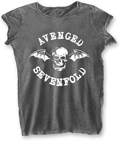 Rock Off Ladies Avenged Sevenfold A7X Deathbat Burnout Oficial Camiseta Mujeres señoras: Amazon.es: Ropa y accesorios