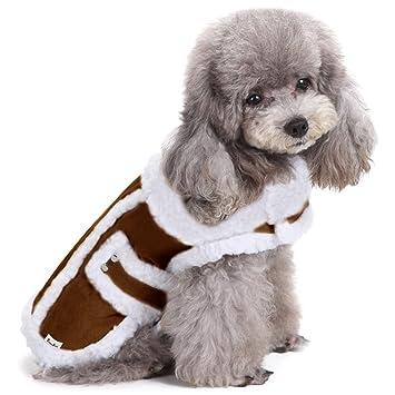 Abrigo de Invierno de Perro, EocuSun Ropa para Mascotas Capa para Gatos Cazadora para Perros
