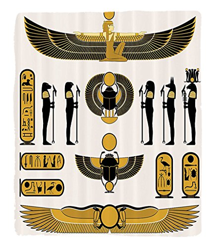 Chaoran 1 Fleece Blanket on Amazon Super Silky Soft All Season Super Plush Egyptian Decor etIllustration Of Old Historical Egyptianpiritymbol Myth Icons Mummy Raun Art (Halloween Mummy Hot Dog Recipes)