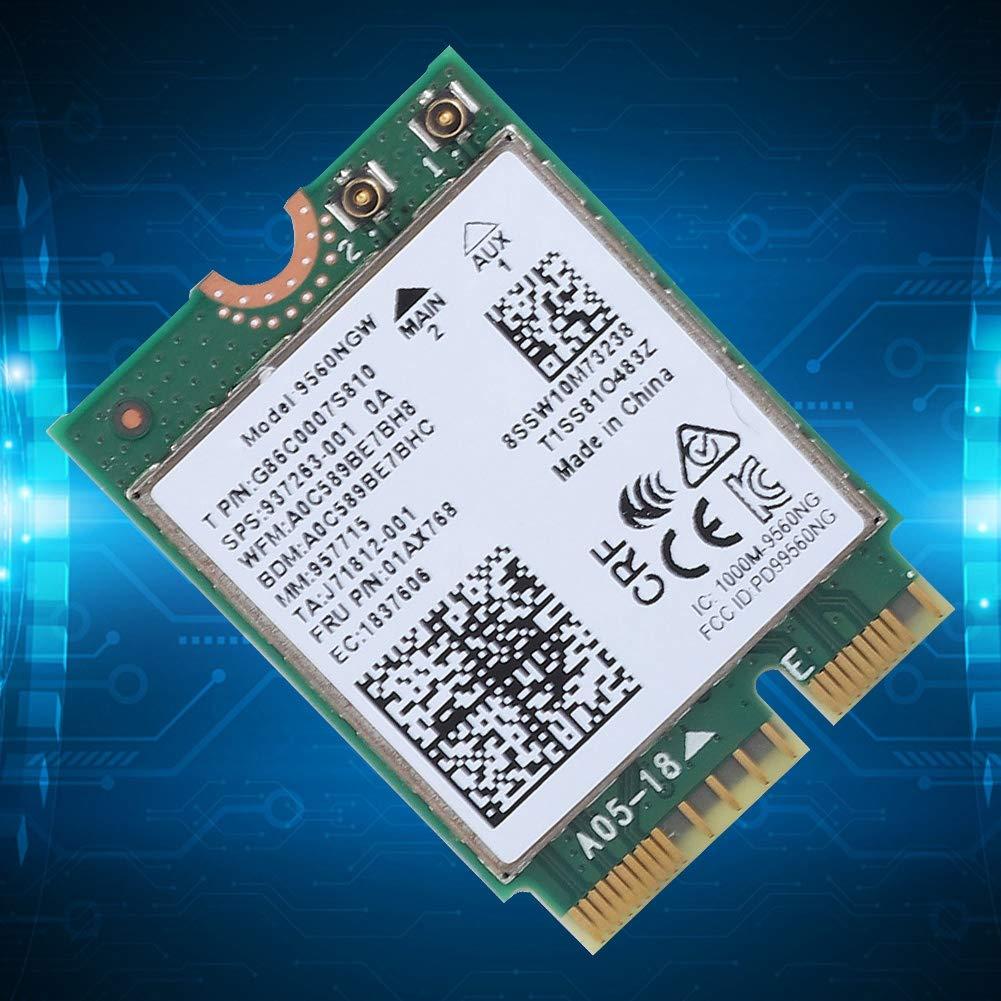 ASHATA Scheda di Rete 5G per Scheda WiFi Intel N95 9560AC Compatibile con Samsung//dell//Sony//Acer//ISUS//MSI//Clevo//Terransforce//Hasee Scheda di Rete Bluetooth 2.0 Dual Band 2.4G