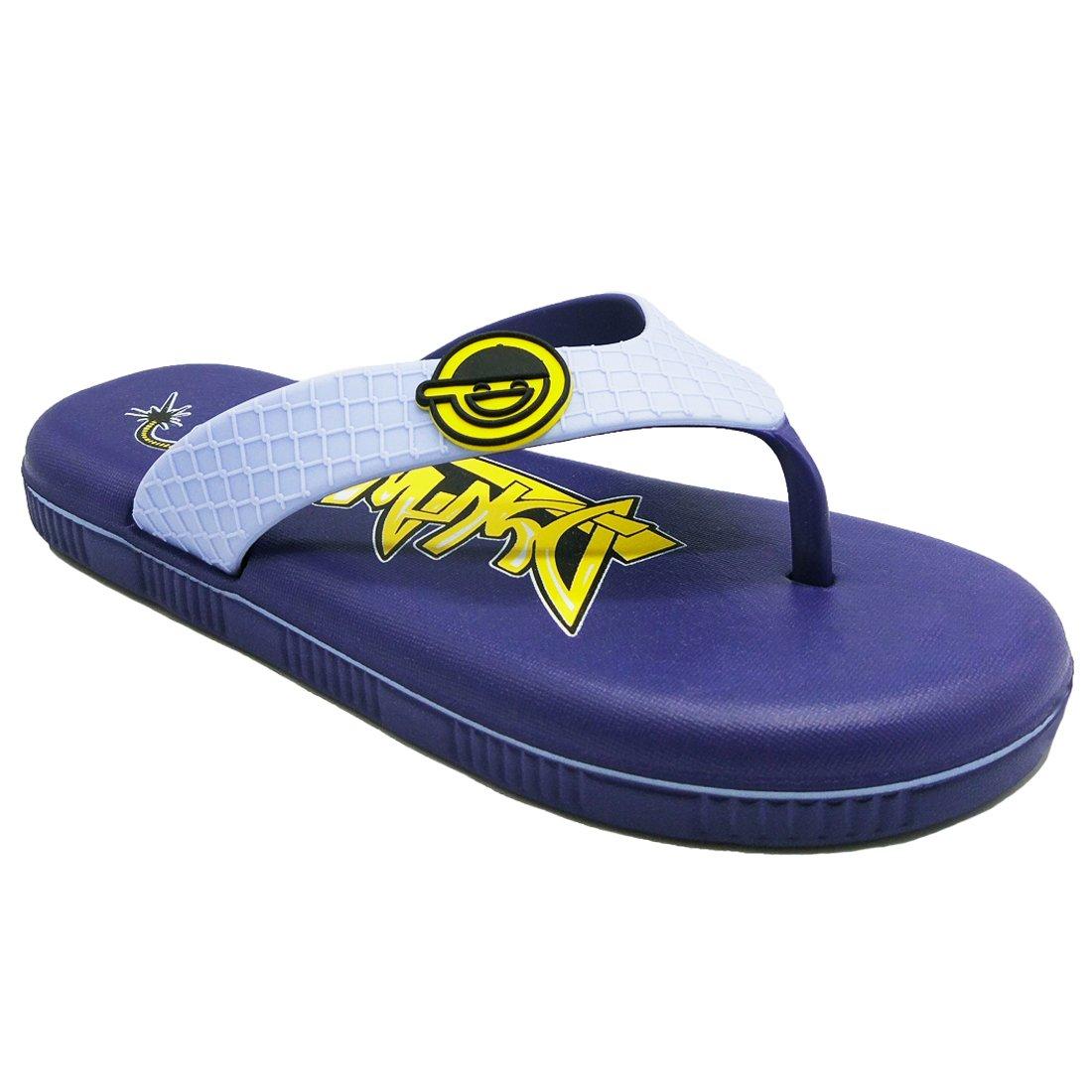 Cuby Boys' Summer Printed Non-Slip Beach Flip Flop Sandals Slipper (6M/38 US Big Kid, Blue)