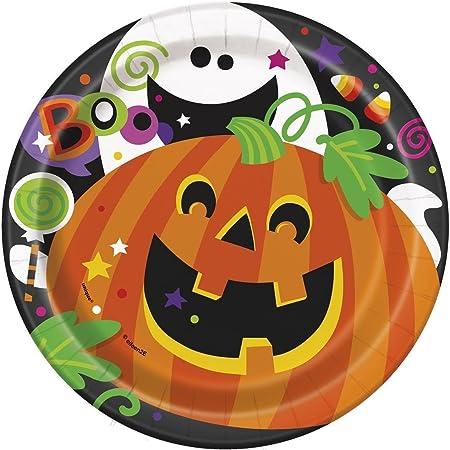 18 cm Happy Halloween Platos Fiesta, pack de 8: Amazon.es: Juguetes y juegos