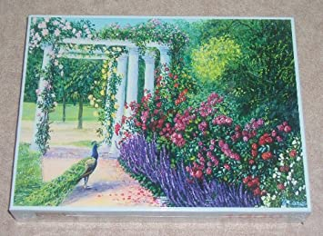 Buy Peacock Garden 1000 Piece Jigsaw Puzzle By Mouth Foot Painting Artists Online At Low Prices In India Amazon In