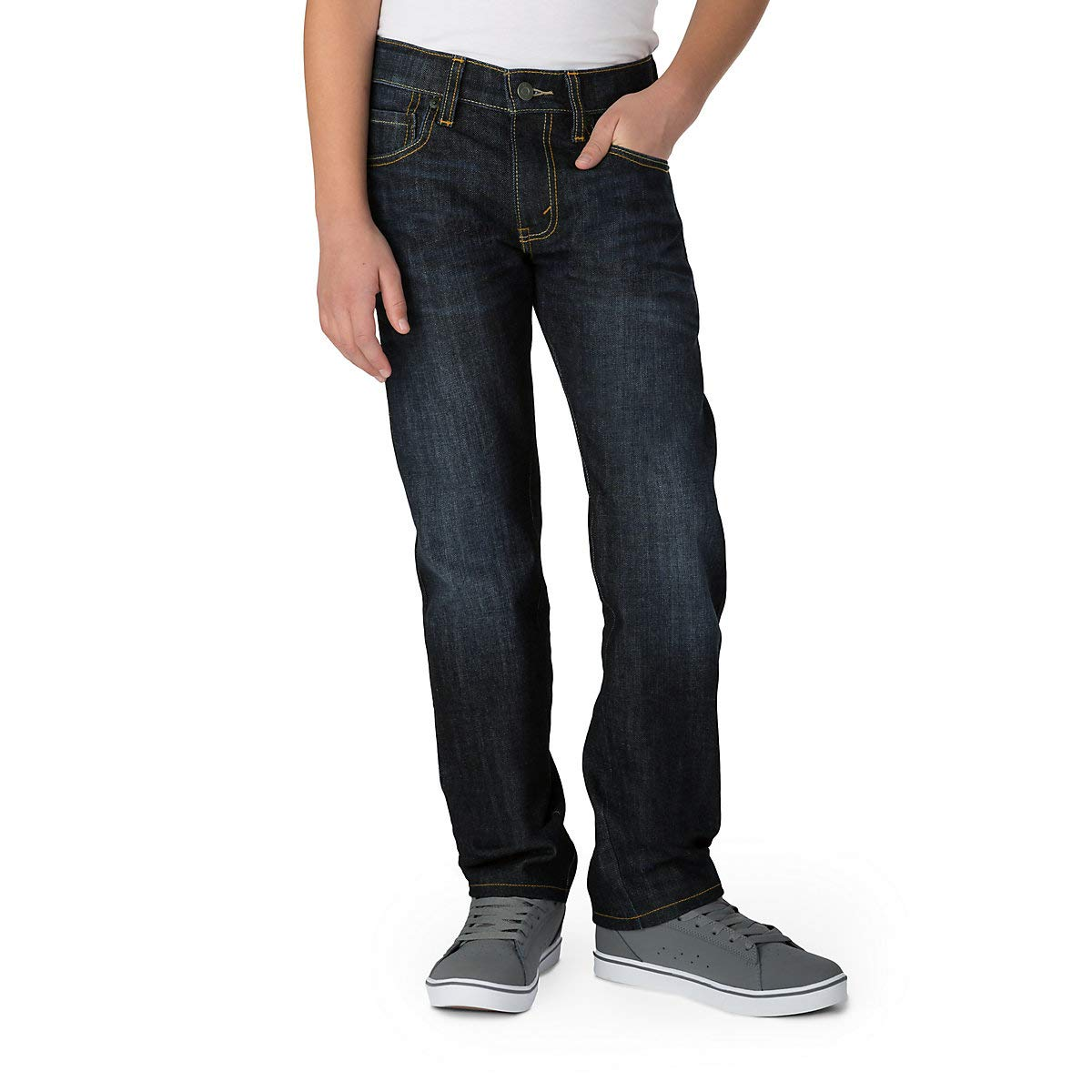 Signature by Levi Strauss & Co. Gold Label Big Boys' Slim Straight Fit Jeans, Bowie, 18 by Signature by Levi Strauss & Co. Gold Label