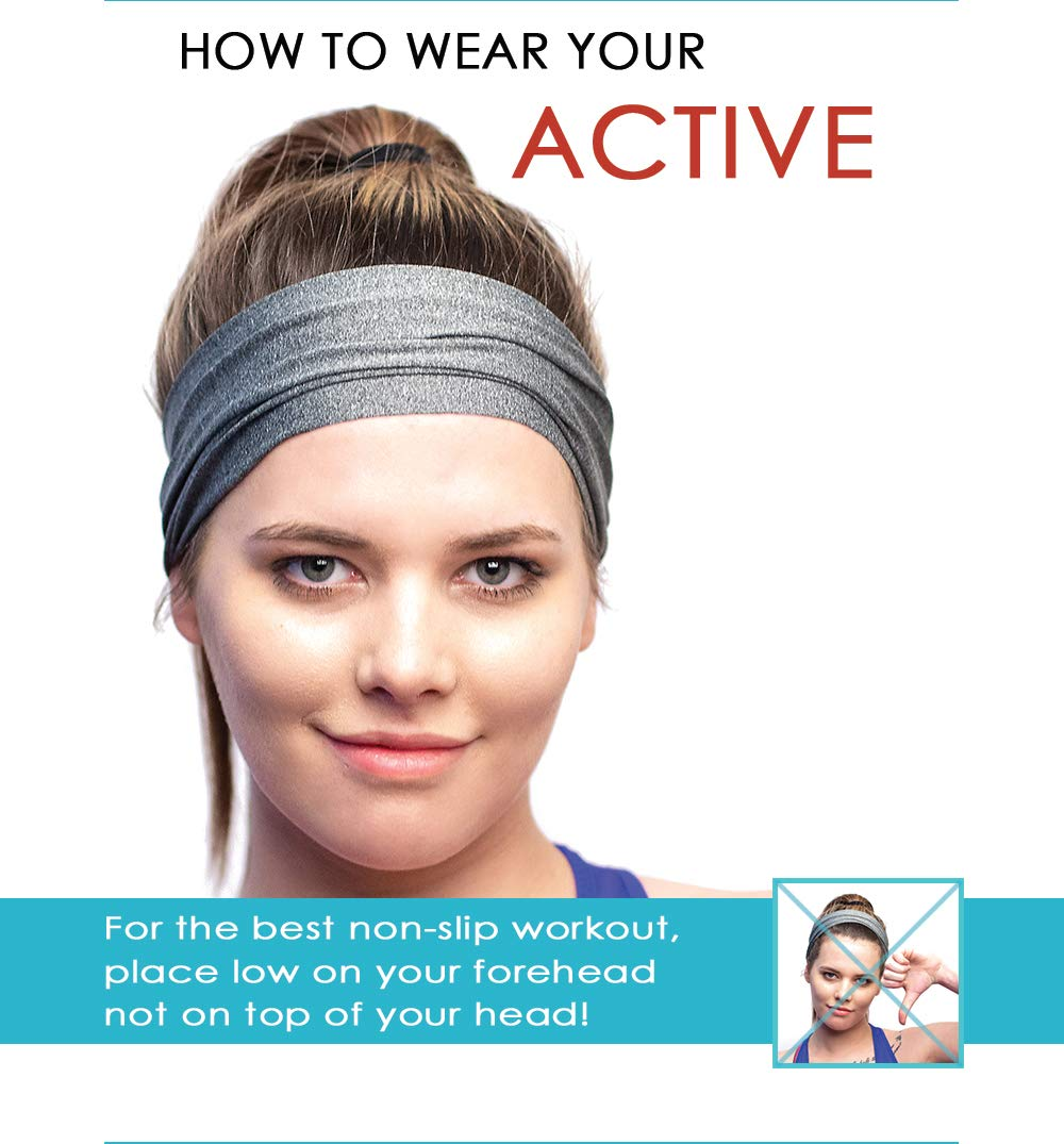 Red Dust Active Sports Headband - Lightweight, Wide & Moisture Wicking - The Ideal Red Running Sweatband - Designed for Women by Red Dust Active (Image #6)