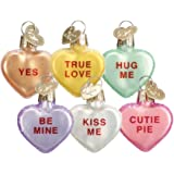 Old World Conversation Heart Set of 6 Assorted Ornament