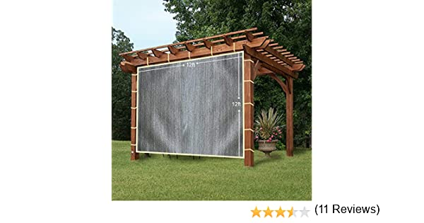 easy2hang Durable Parasol privacidad Panel con cuerda para pérgola, Side lámpara de pared para Instant toldo o Gazebo, tela, gris, 12x12: Amazon.es: Hogar