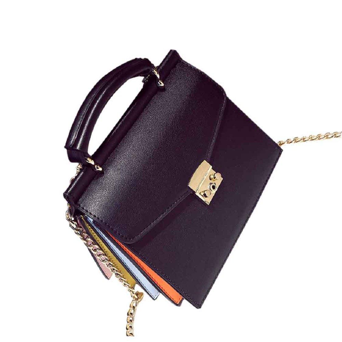 Sunfei Fashion Women Handbag Shoulder Bag Messenger Large Tote Leather Ladies Purse (Black)