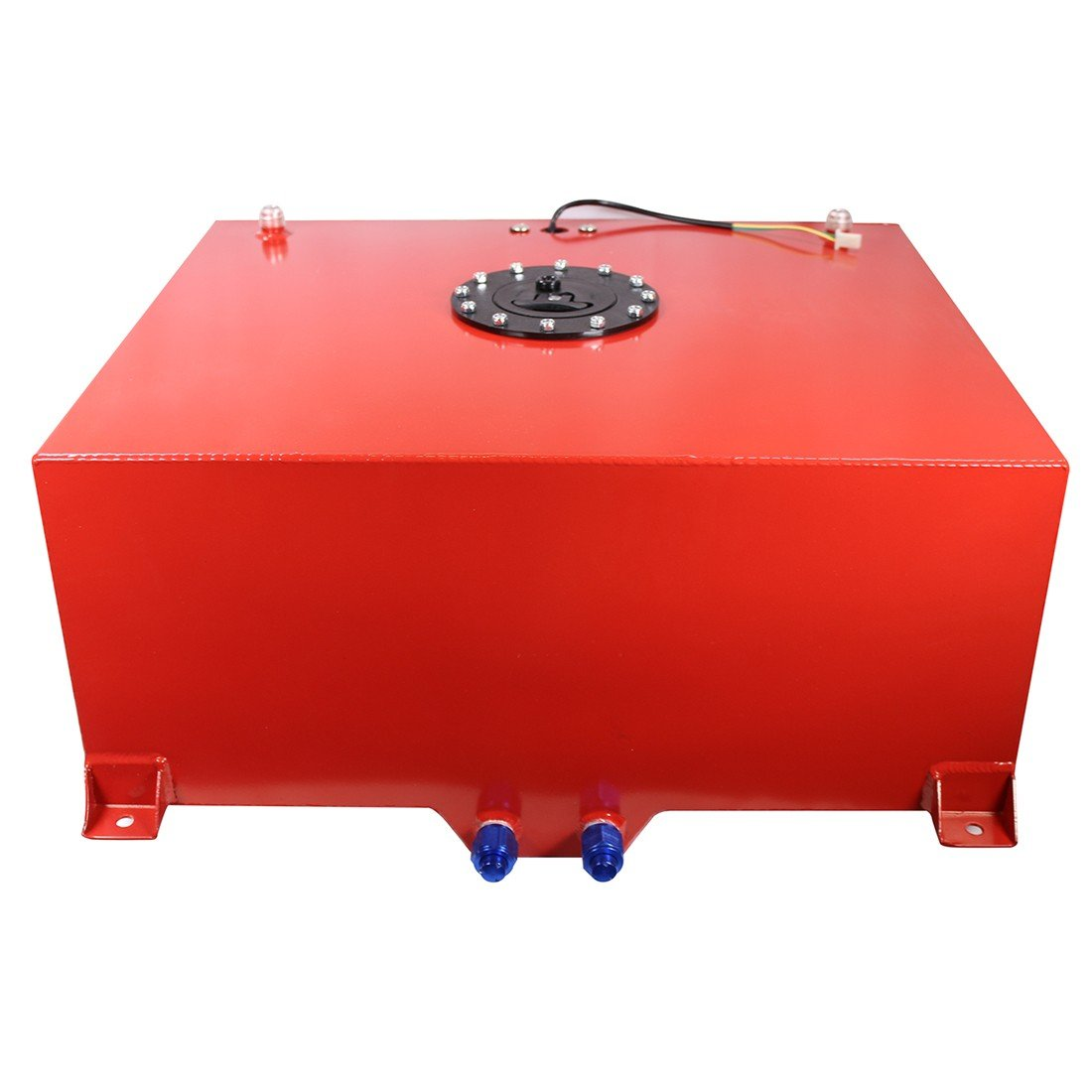 15 Gallon OEM Polished Aluminum Racing Drift Fuel Cell Gas Tank & Level Sender DEMOTOR