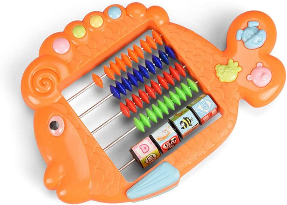 Y-YUNLONG Baby Puzzle Early Education Abacus Toy Cartoon Animal Math Toy Abacus Boys Girls Educational Toys