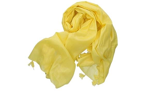 più recente 4ff38 76dfb Pierre Cardin Foulard donna sciarpa stola gialla 100% cotone ...