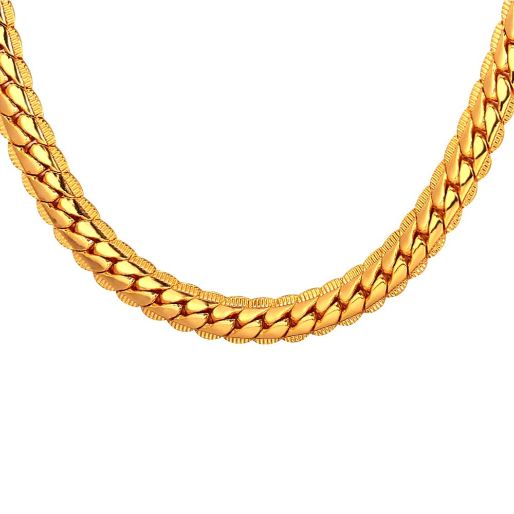 TUOKAY Direct Snake Necklace Chain, Fashion Jewelry Chain for Women and Men, Dainty & Sparkling, Packed in Nice Gift Box (24'', 9mm)