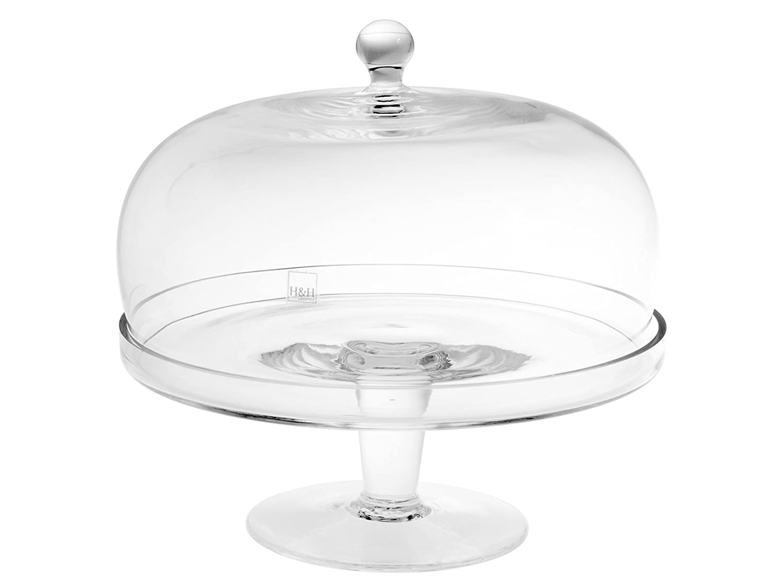 H&H Alzador con Cúpula, Vidrio, Transparente, 11 cm/Diámetro 26 ...