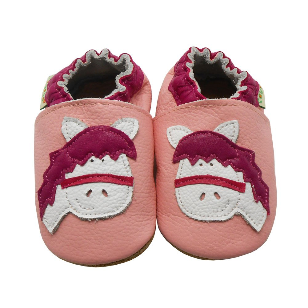 Sayoyo Baby Cute Horse Soft Soled Leather Baby Shoes Baby Moccasins