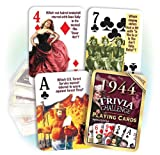 Flickback 1944 Trivia Playing Cards: Birthday gift or Anniversary gift