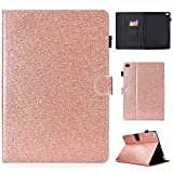 7.9 inch ipad Mini 3 Cover, Ultra Slim Magnetic Clasp Case, Premium PU Leather Smart Folio Shell with Card Slot and Hand Strap for Apple iPad Mini 1/2/3/4 7.9-inch (2012/2013/2015) (Rose Gold)
