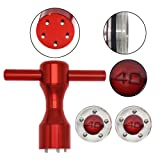 HISTAR 2Pcs Golf Custom 40g Red Weights + Red