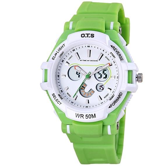 Los niños y niñas Impermeable/Precioso Reloj Luminoso/Reloj Digital Deportivo-E